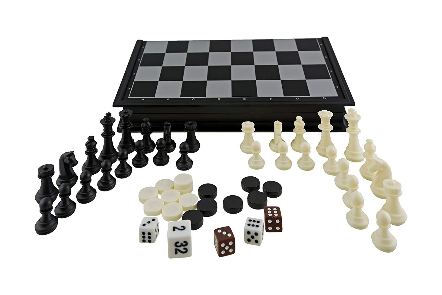 Aquamarine Games Chess, Draughts and Backgammon, Magnetic (CP024)