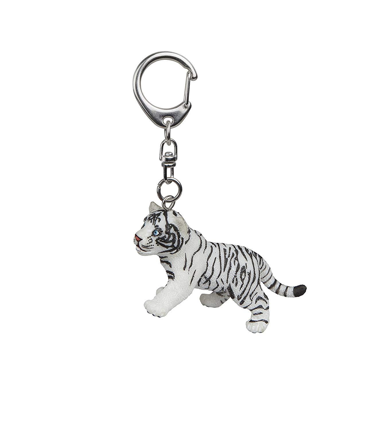 "Papo 02210 ""Tiger Cub Key Ring, White"