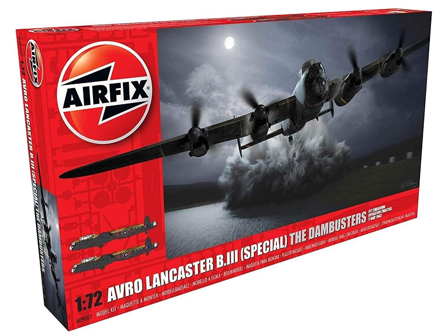 Airfix 1:72 Avro Lancaster B The Dambusters Aircraft Model Kit