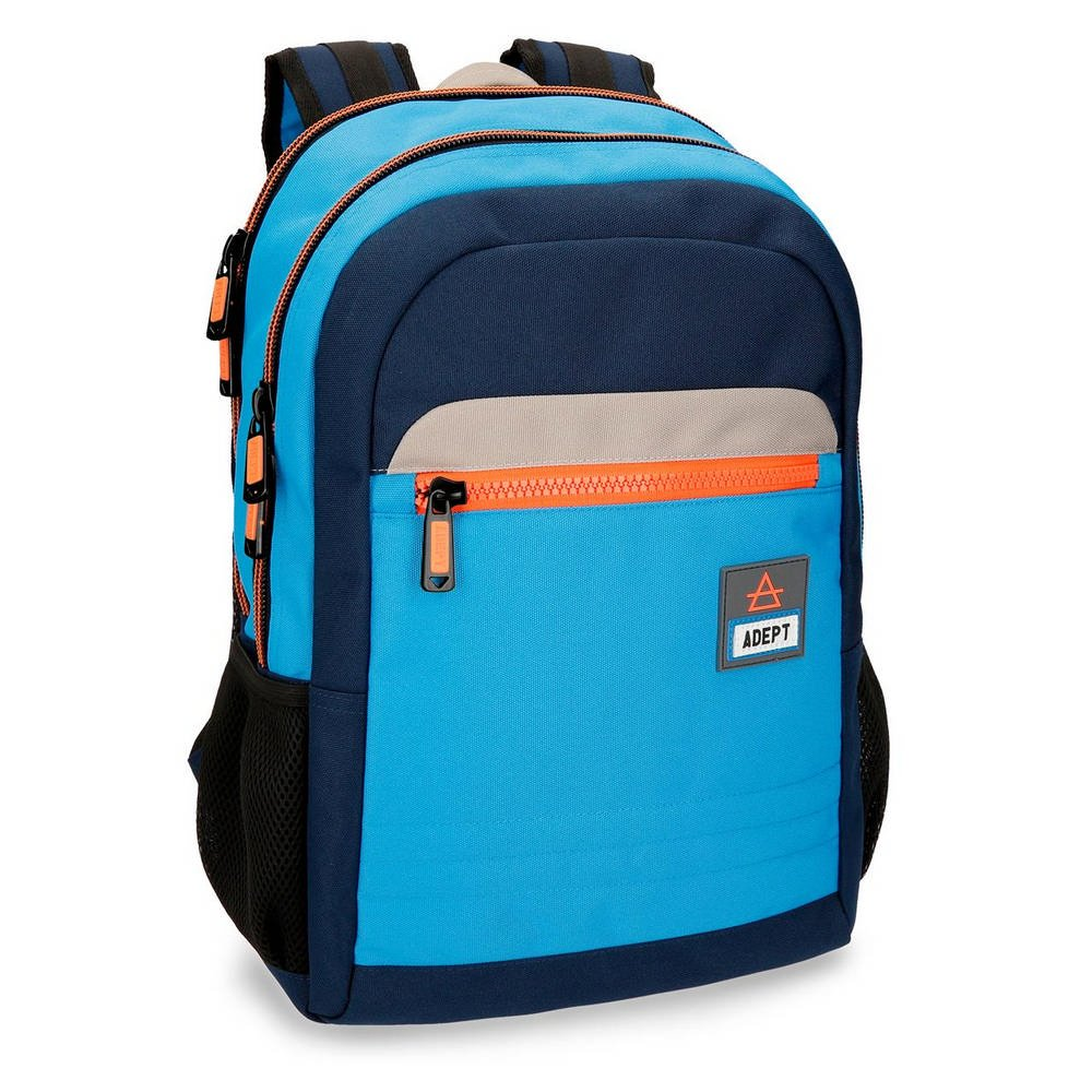 Adept Power Blue 15,6″ laptop backpack 44 cm, double compartment,  adaptable to trolley.