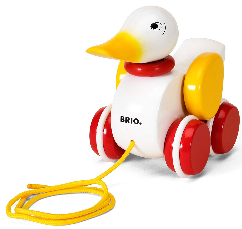 BRIO Infant & Toddler – Pull-along Duck – White
