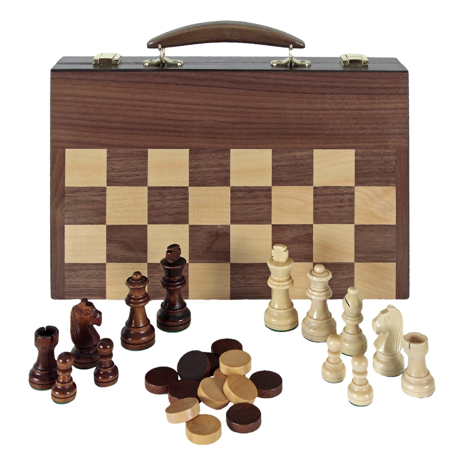 Aquamarine Games–Chess, Draughts and Backgammon in Carry Case (Compudid FD100616)