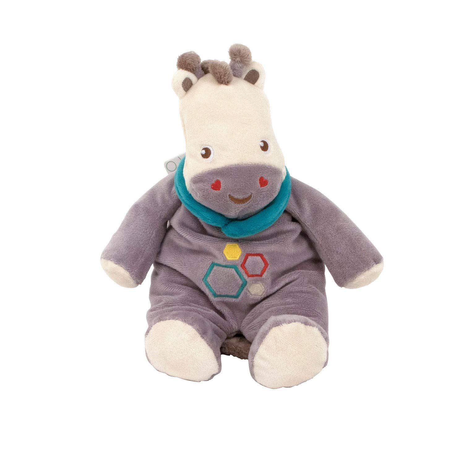 Arditex FP10090 FP Giraffe Seated with Rattle, Multi-Colour, 28 cm