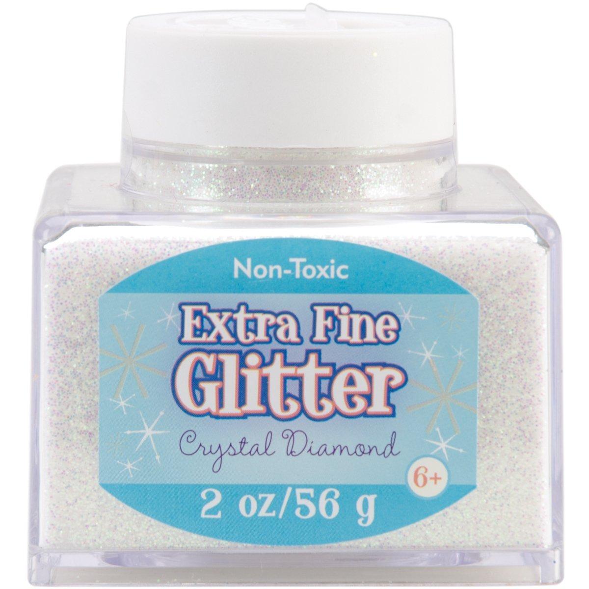 Advantus Crystal-Fine Glitter 2 Ounce, Acrylic, Multicolour, 6.35×6.35×6.35 cm
