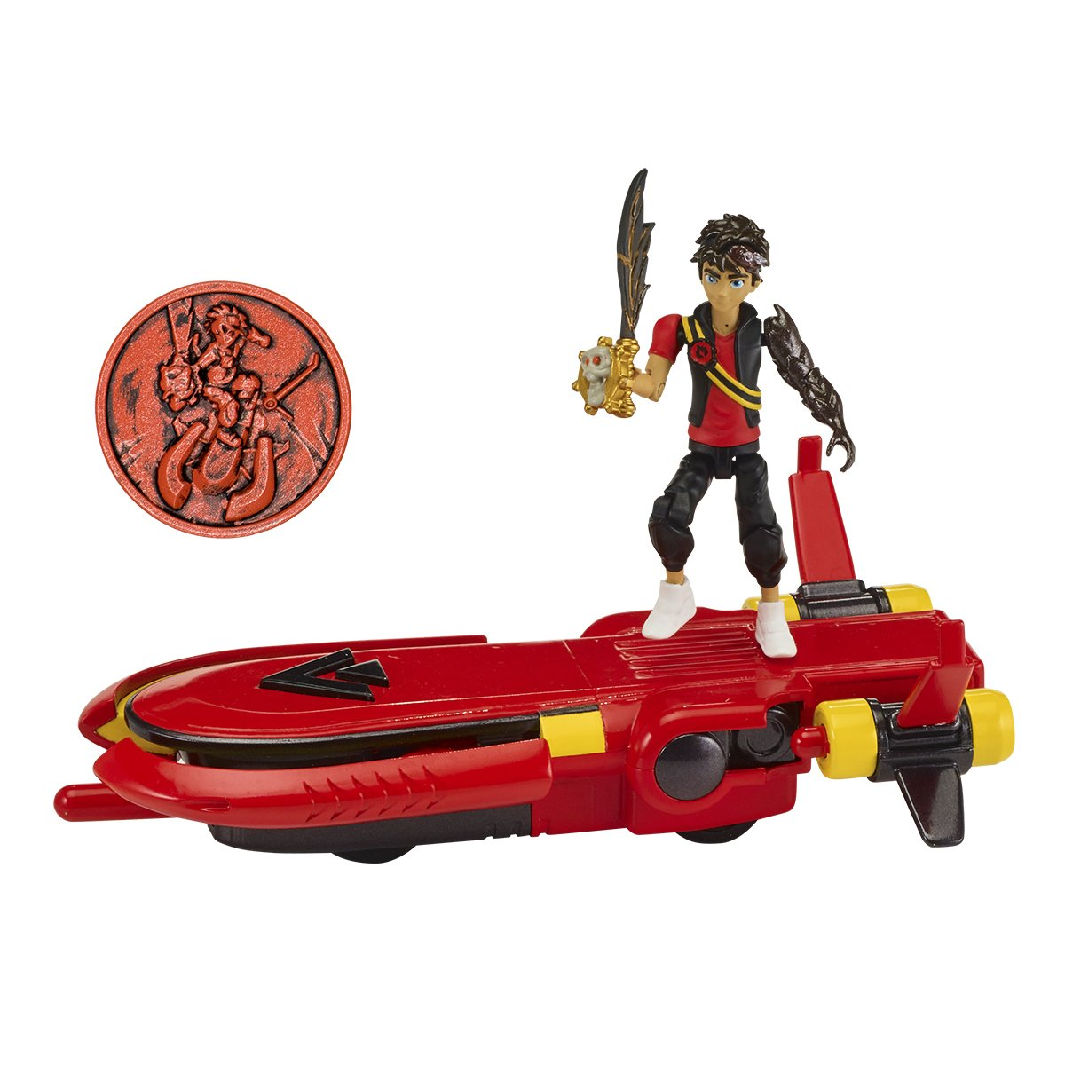 Bandai 41585 Zak Storm Hover Vehicle and Coin