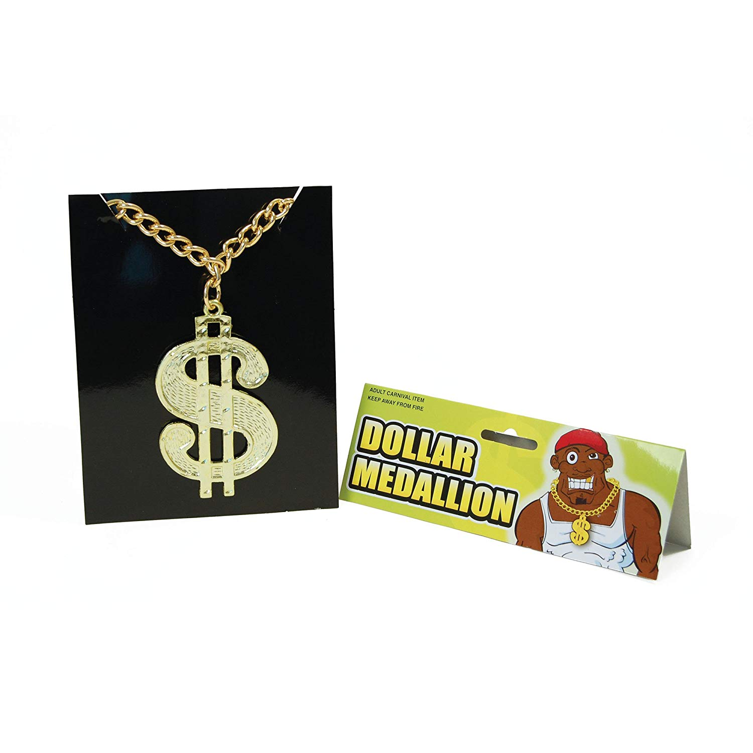 Bristol Novelty BA510 Dollar Medallion On Chain, One Size