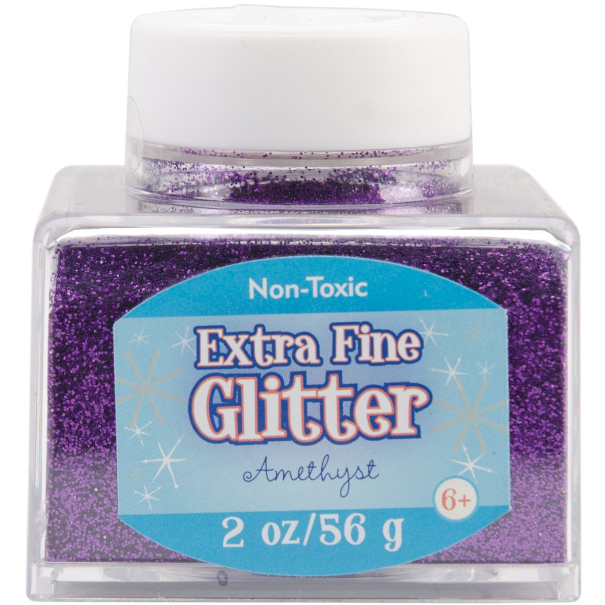 Advantus Amethyst-Fine Glitter 2 Ounce, Acrylic, Multicolour, 6.35×6.35×6.35 cm