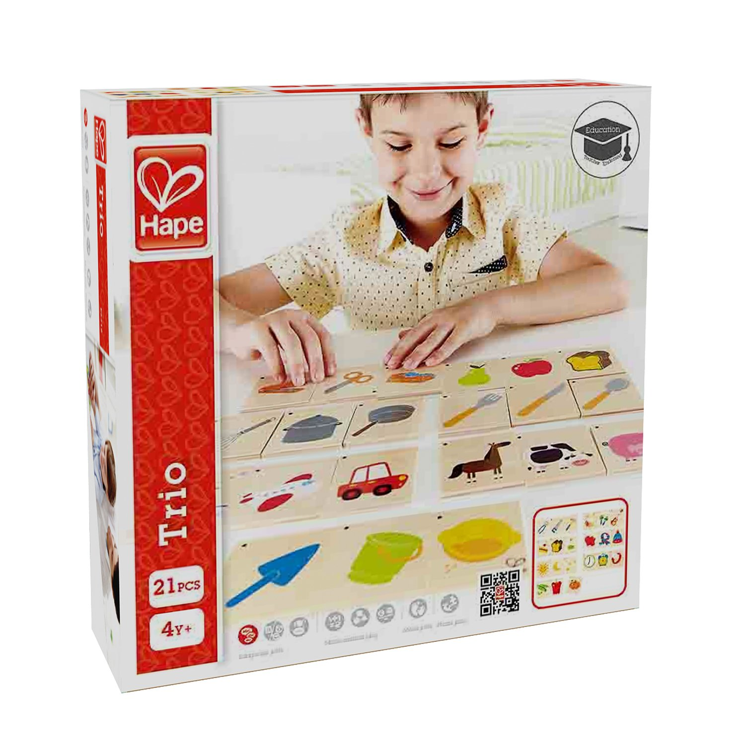 Hape HAP-E6316 Home Education Trio Game