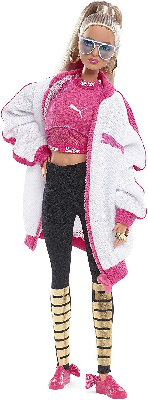 Barbie DWF59 Fashion Puma Doll White Jacket, PUMA Fashion Designer Doll, Black Label Limited Edition Collector