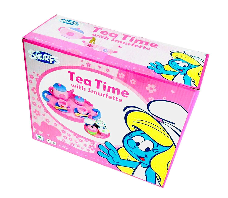 Barbo Toys Barbo Toys8430 Barba Toys Smurfette Tea Set, Multi-Color