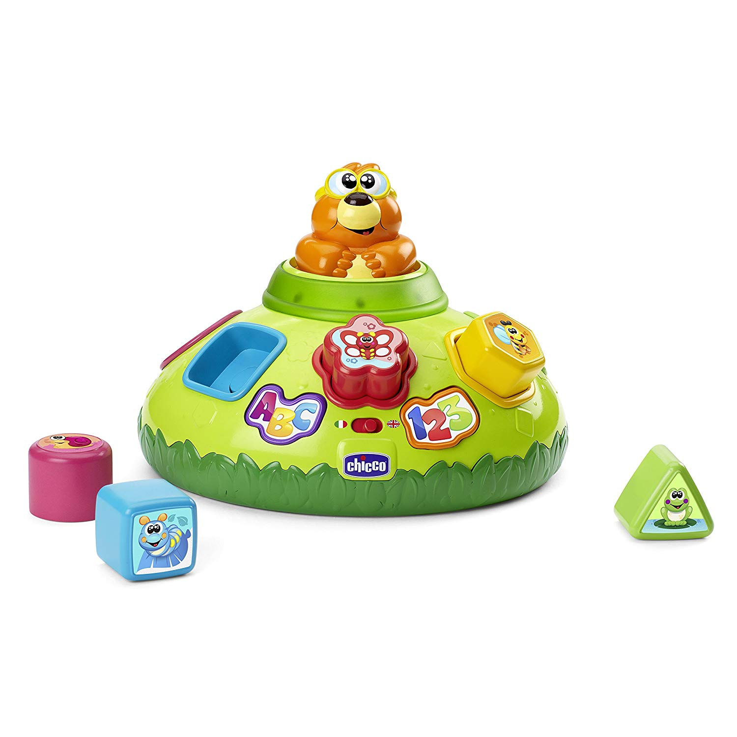Chicco 00007710000000 Children's Educational Game – Educational Games (Multicolour, Boy, Boy/Girl, 3 Years (s), English, Italian, Buttons, Lever)