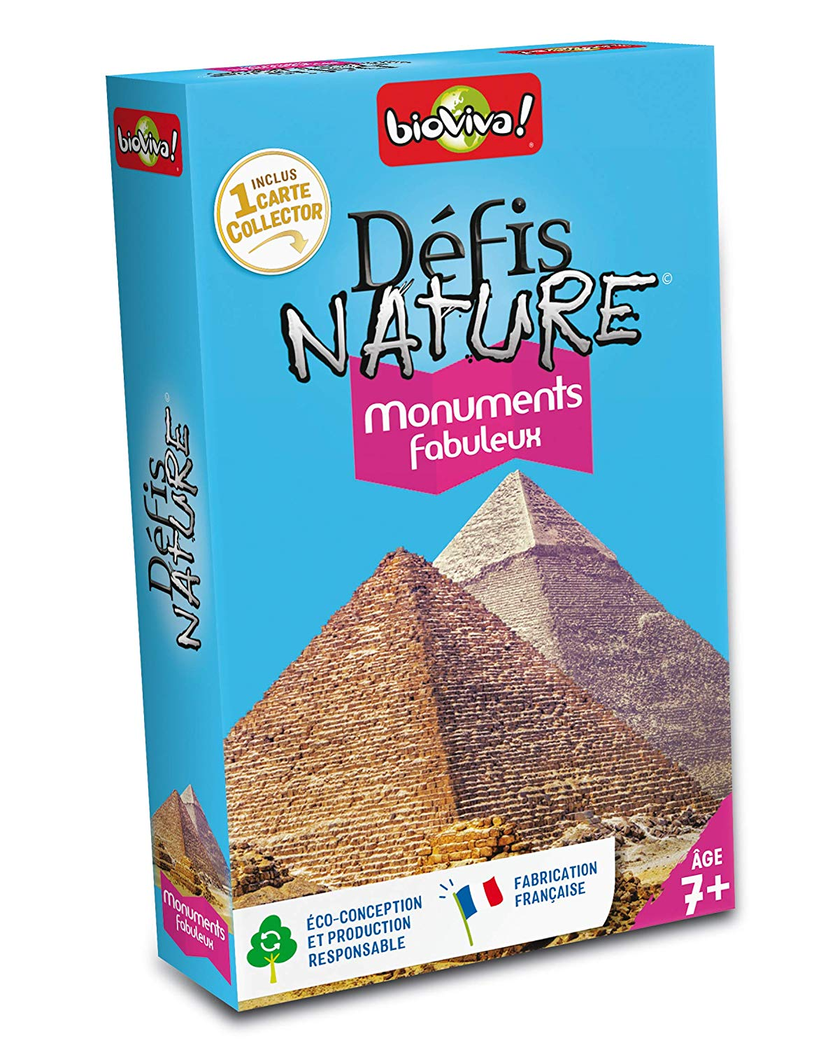 Bioviva 200561 fabuleux Challenges Nature-Fabulous Monuments Card Game, Multi-Color