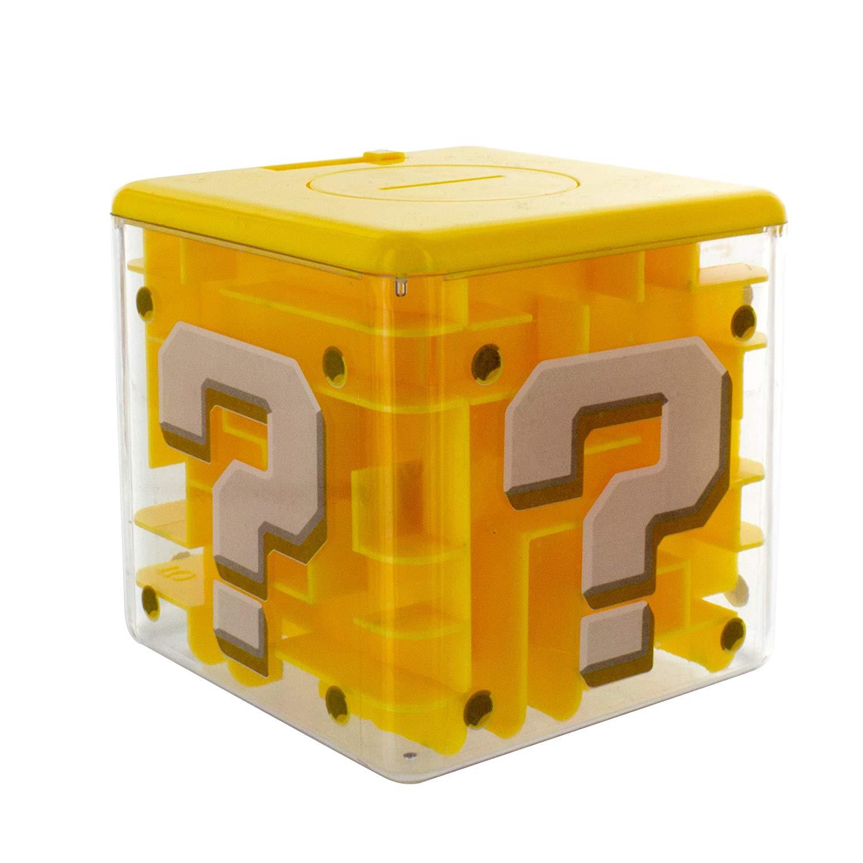Paladone PP4019NN Super Question Block Maze Safe with 3D Mario Figurine