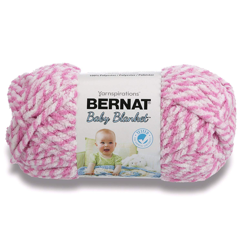 Bernat Baby Blanket Twists Big Ball Yarn-300g- Pink Twist