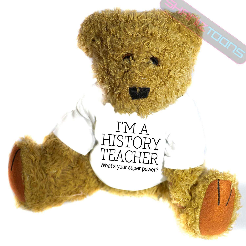 shaniztoons History Teacher Novelty Gift Teddy Bear