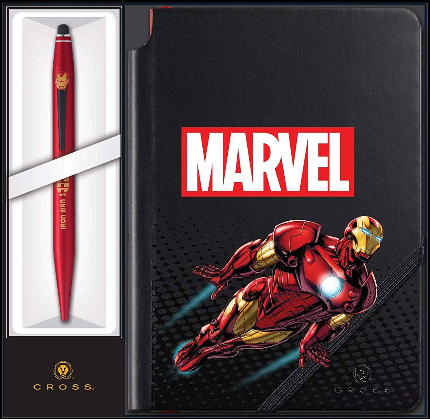 Cross Marvel Tech2 and Journal Gift Set featuring Iron Man