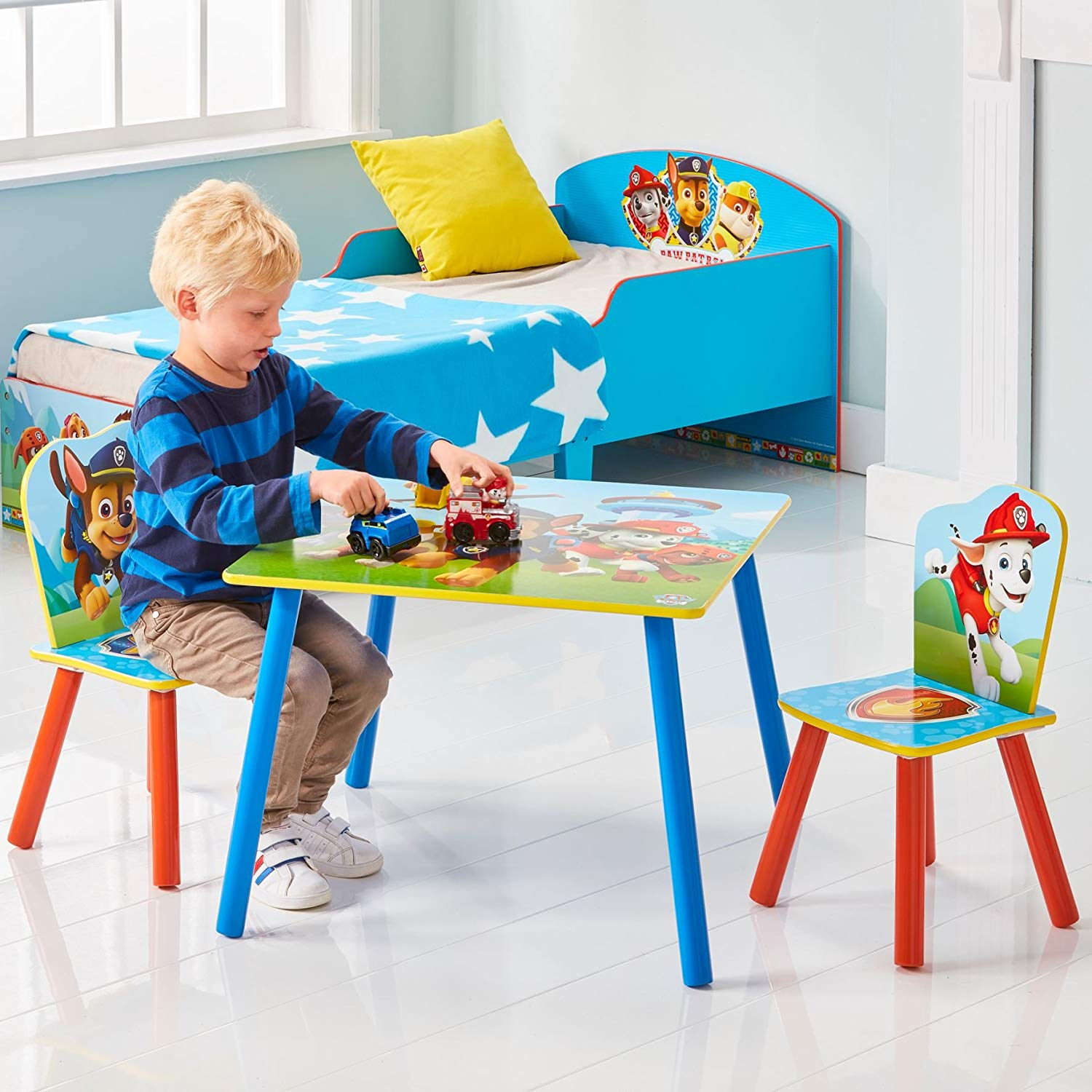 Paw Patrol Kids Table and 2 Chair Set by HelloHome ...
