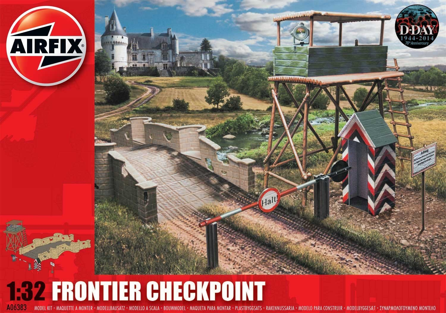 Airfix 1:32 Scale Frontier Checkpoint Modelkit