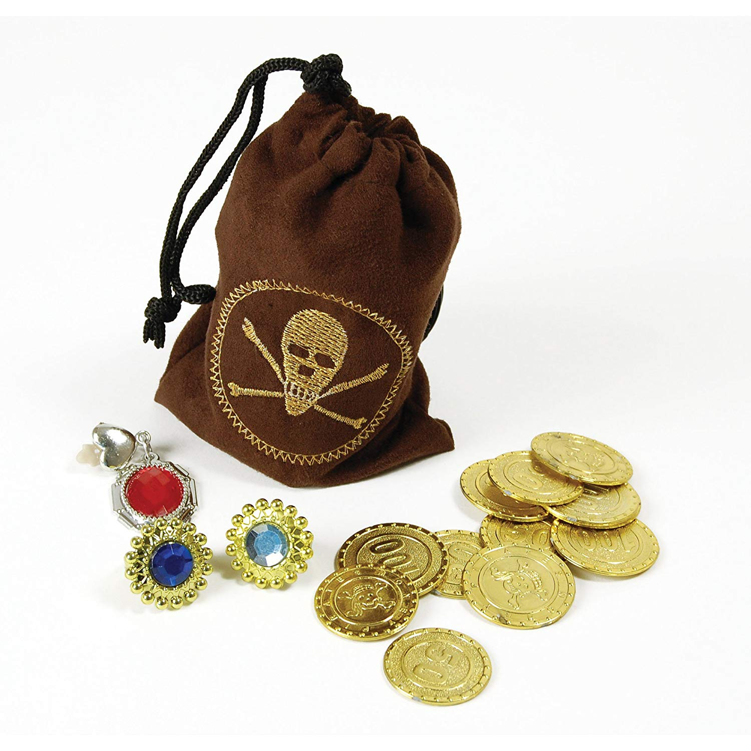 Bristol Novelty BA1089 Pirate Coins and Jewellery, Unisex-Adult, One Size