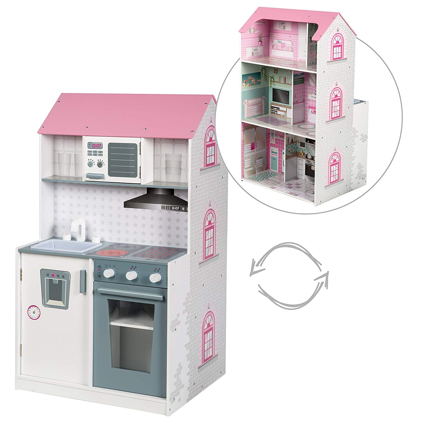Roba Activity Centre 2in 1Dolls House Play House and Kitchen–Various Options Available