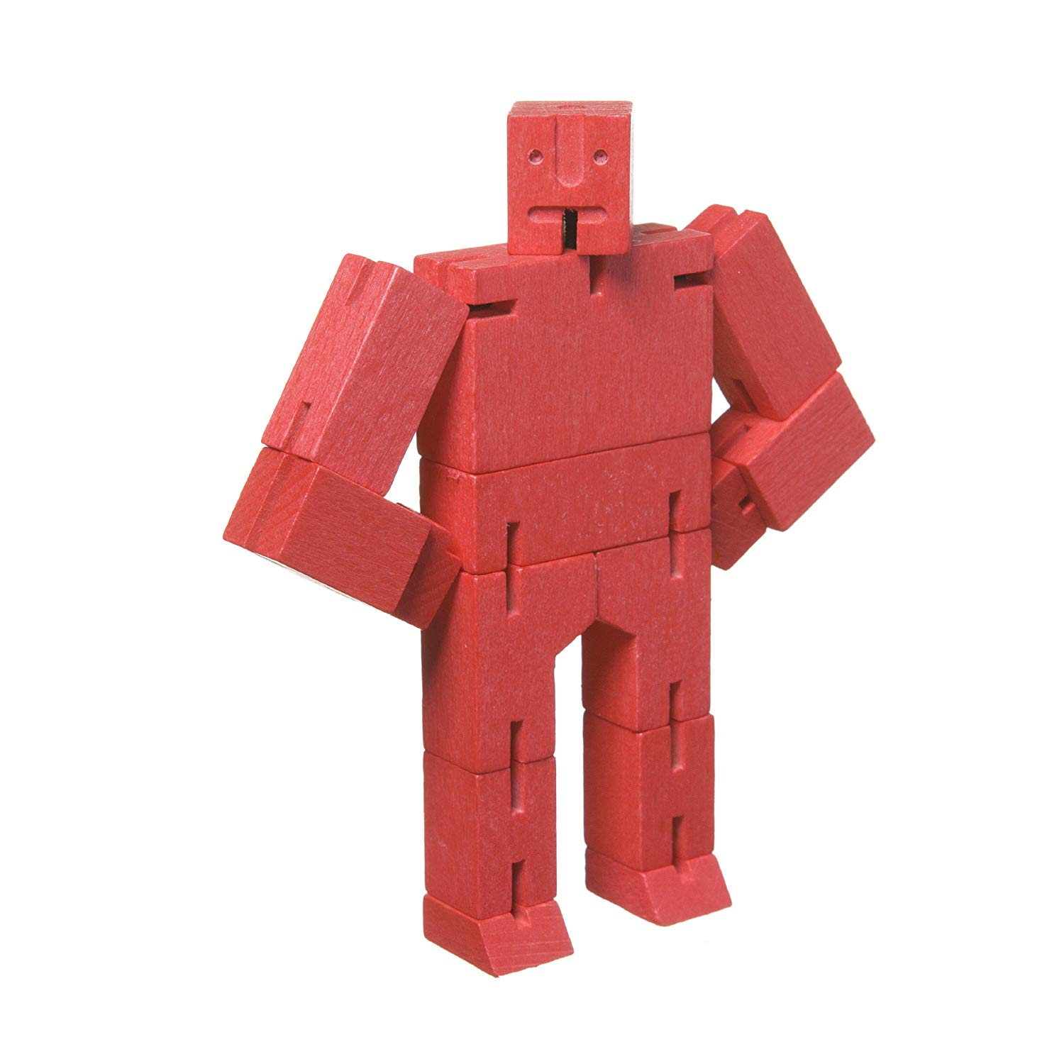 Areaware DWC4R Micro Cubebot Wooden Toy – Red