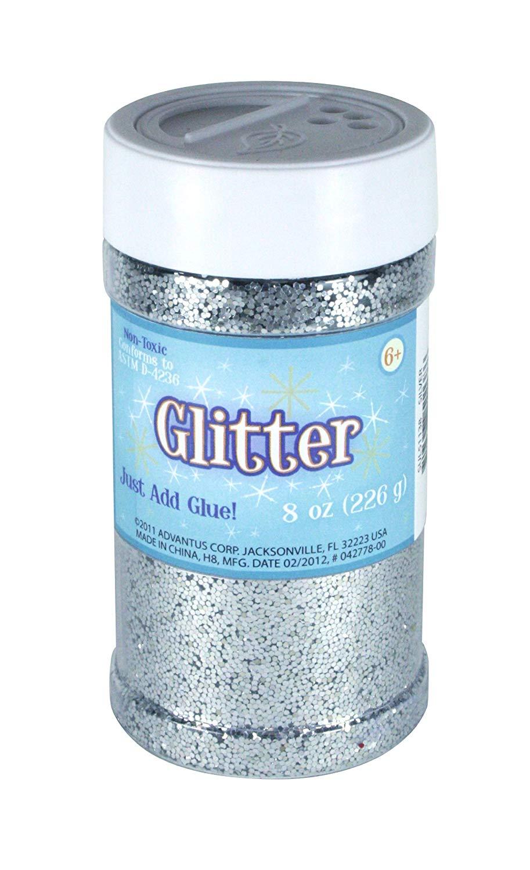 Advantus Glitter 8oz-Silver, 8 Ounces