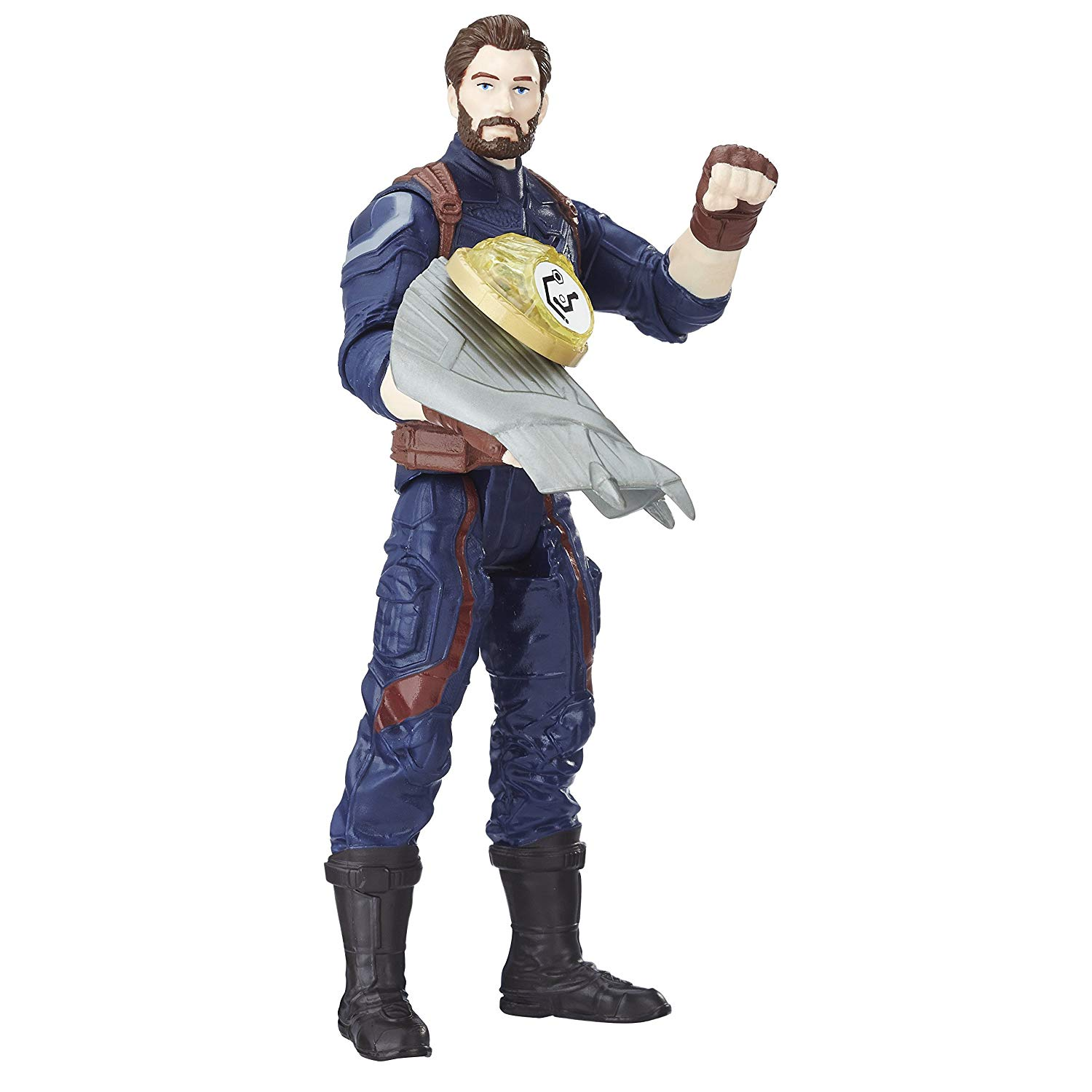AVENGERS E1407EL2 War Captain America Figure with Infinity Stone