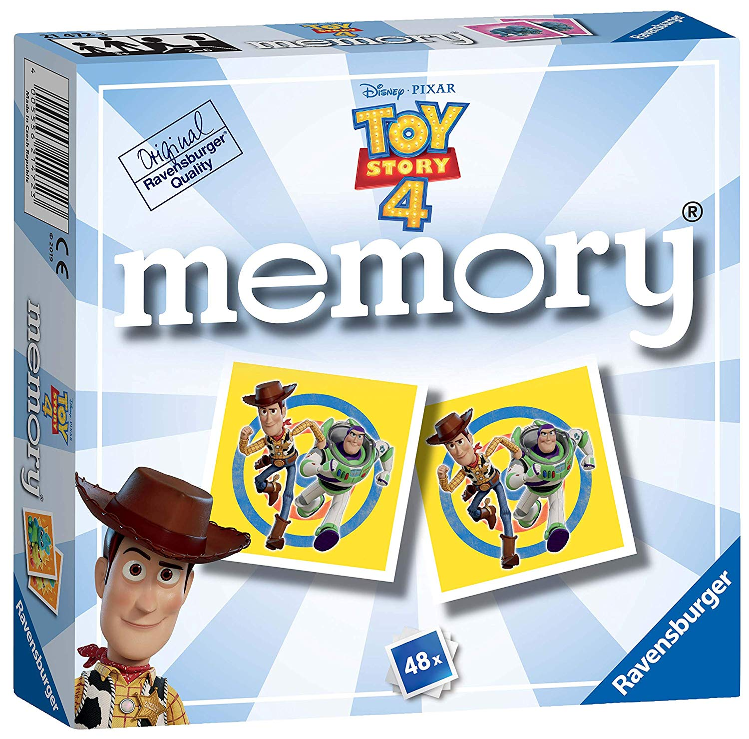Ravensburger 21472 Disney Pixar Toy Story 4, Mini Memory Game, Multicoloured