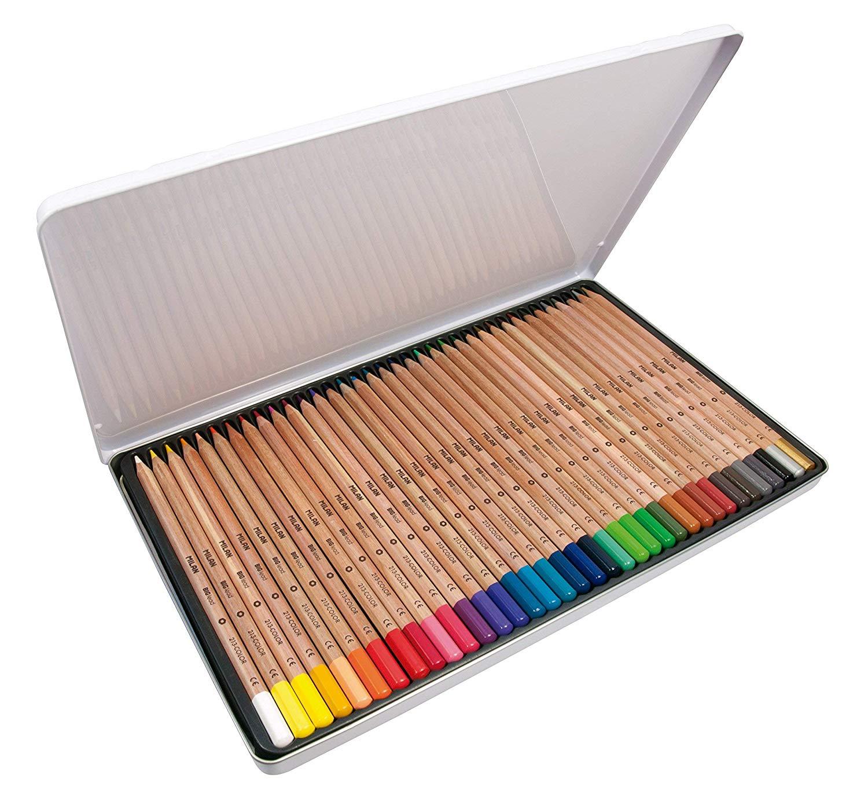 A.C. Milan Caja metálica 36 lápices de Colores con mina Grande Ø3,3 mm 213, White