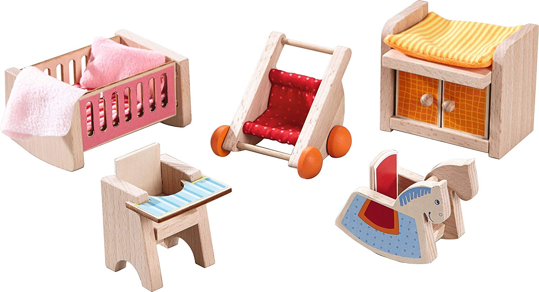 HABA 301989 Little Friends Dollhouse Furniture Children's Room Set