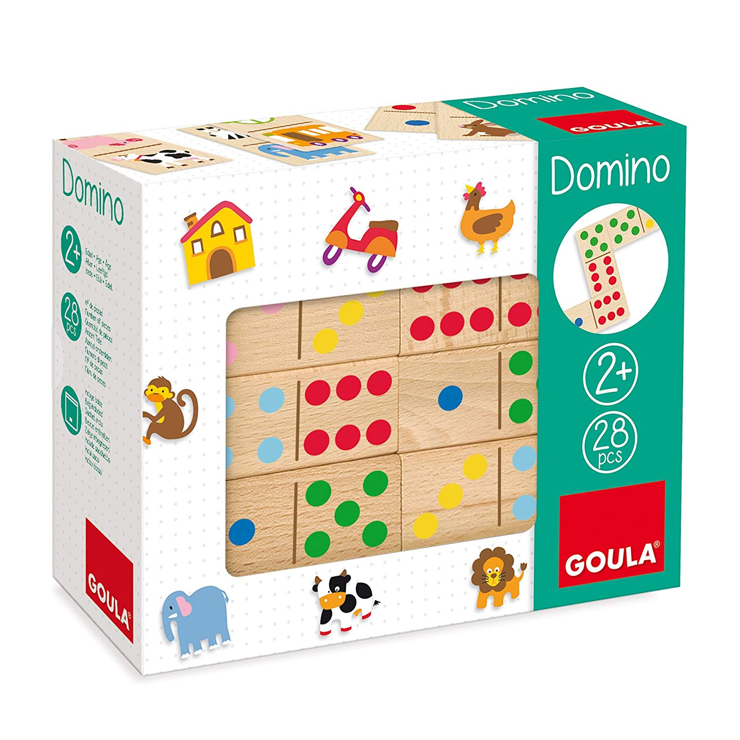 Goula Topycolor Wooden Dominoes