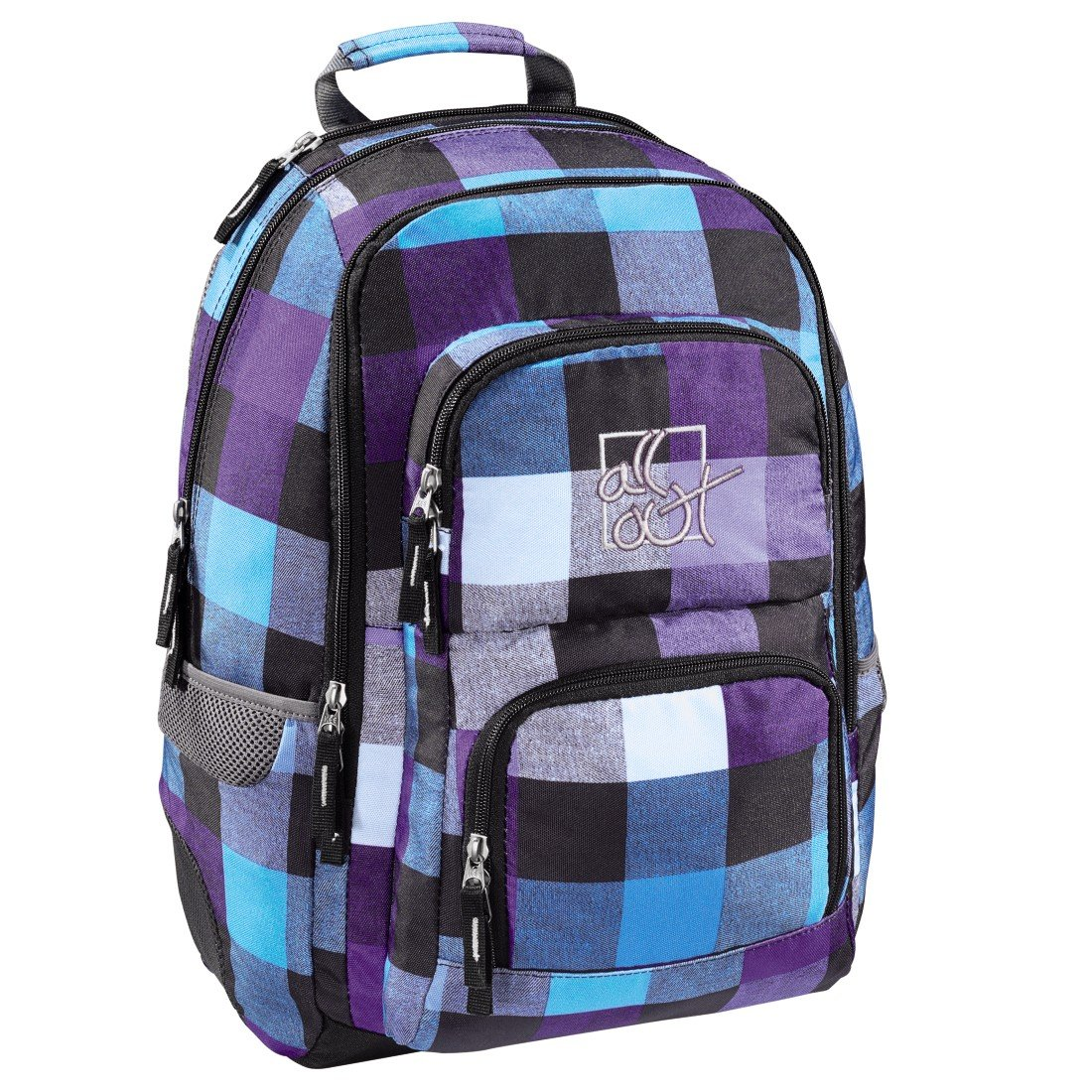 "'All Out Backpack Louth"", Caribbean Check (Blue) – 00124836"