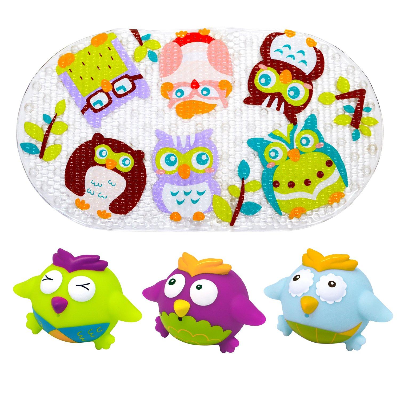 Knorrtoys 37029 knoortoys Escabbo-Birdie Bathmat Set4Tlg, Multi Color