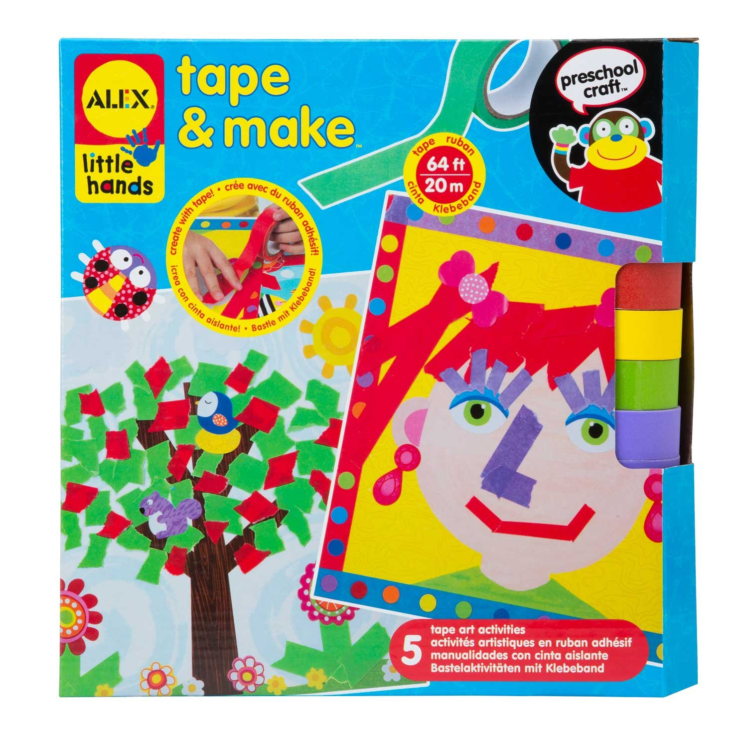 Alex Jura Toys 1521 Toys Little Hands Tape and Make Craft Kit