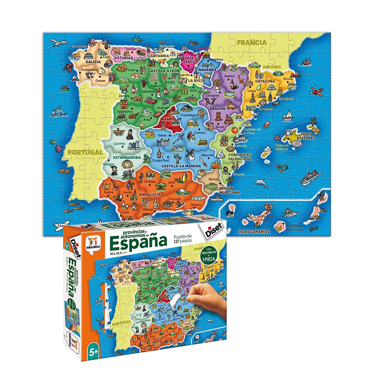 Diset Toy Educational Provinces of Spain (68942)