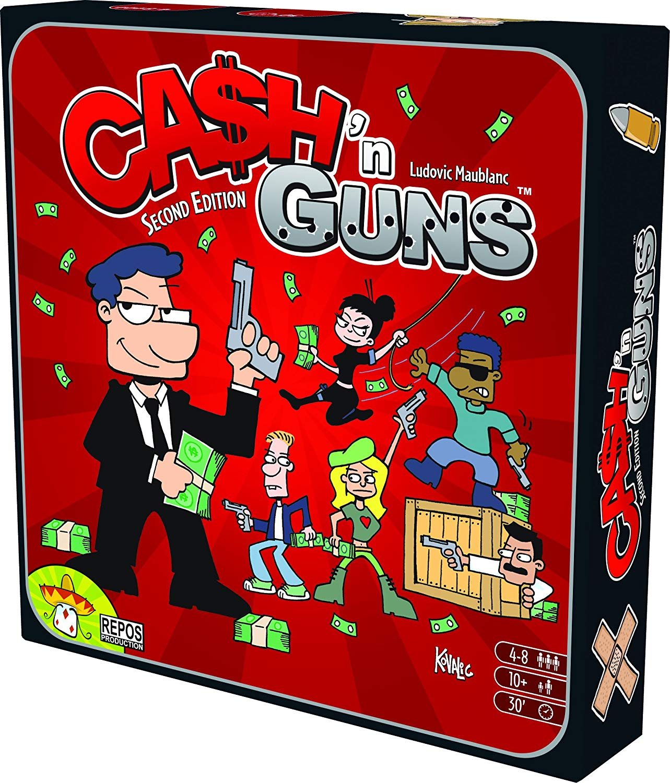 Asmodee 692255–BOARD GAME–Cash 'n Guns