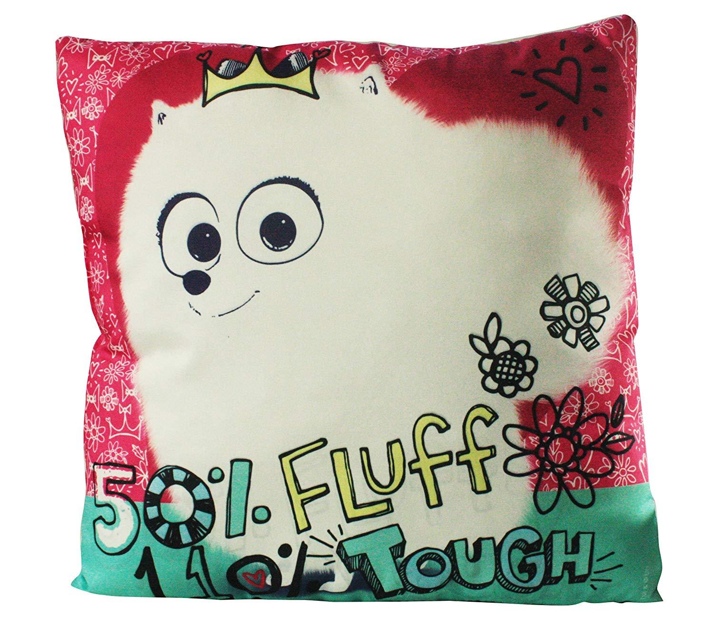 Diakakis–0504357u Licensed Polyester Reversible Cushion by World of Pets–Size 35
