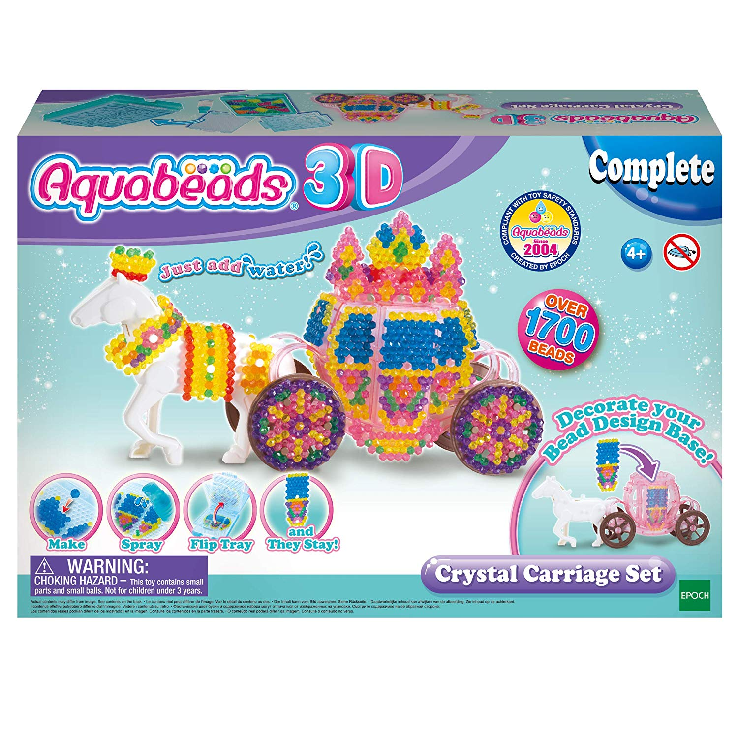Aquabeads 31363 31363-3D Horse Carriage Craft Kit, Multi-Colour