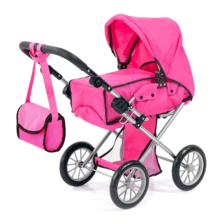 13629AA City Star Doll's pram, Combi Doll's Pram,  pink