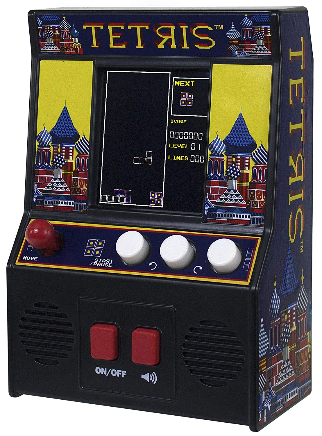 Basic Fun! 09594 Tetris Mini Arcade Game (4C Screen), Multicolour