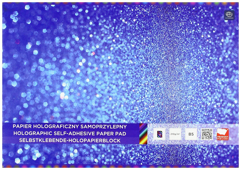 Interdruk ZEPAHOB5 Holographic Paper Pad B5 6, Multi-Color