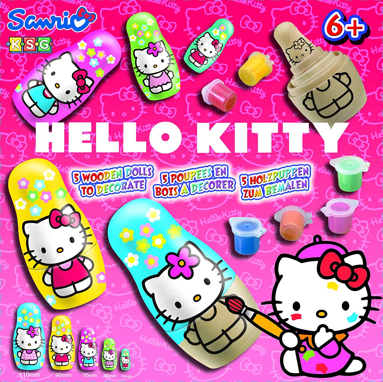 Hello Kitty Wooden Dolls