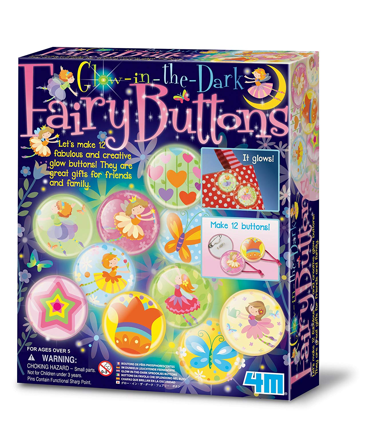 4M Glow in the Dark Fairy Buttons