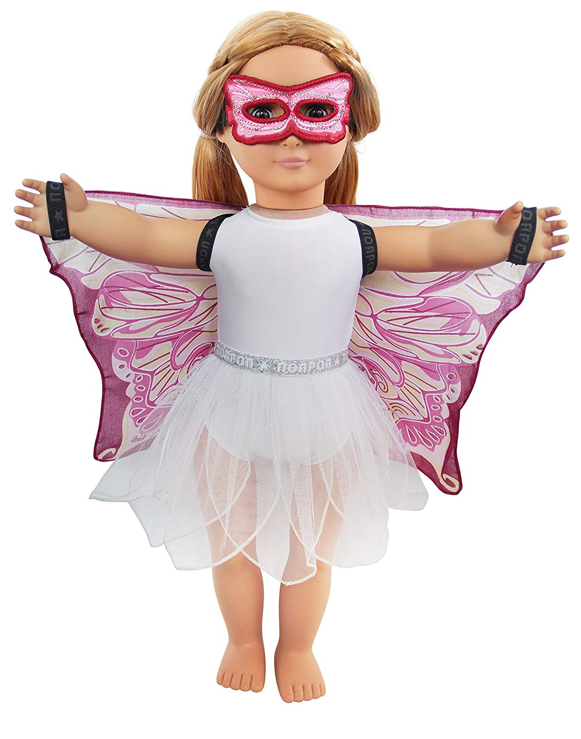 Dreamy Dress-Ups 71265 4-PC Playset for 18″ / 18 inch / 46 cm Dolls, Pink Fairy