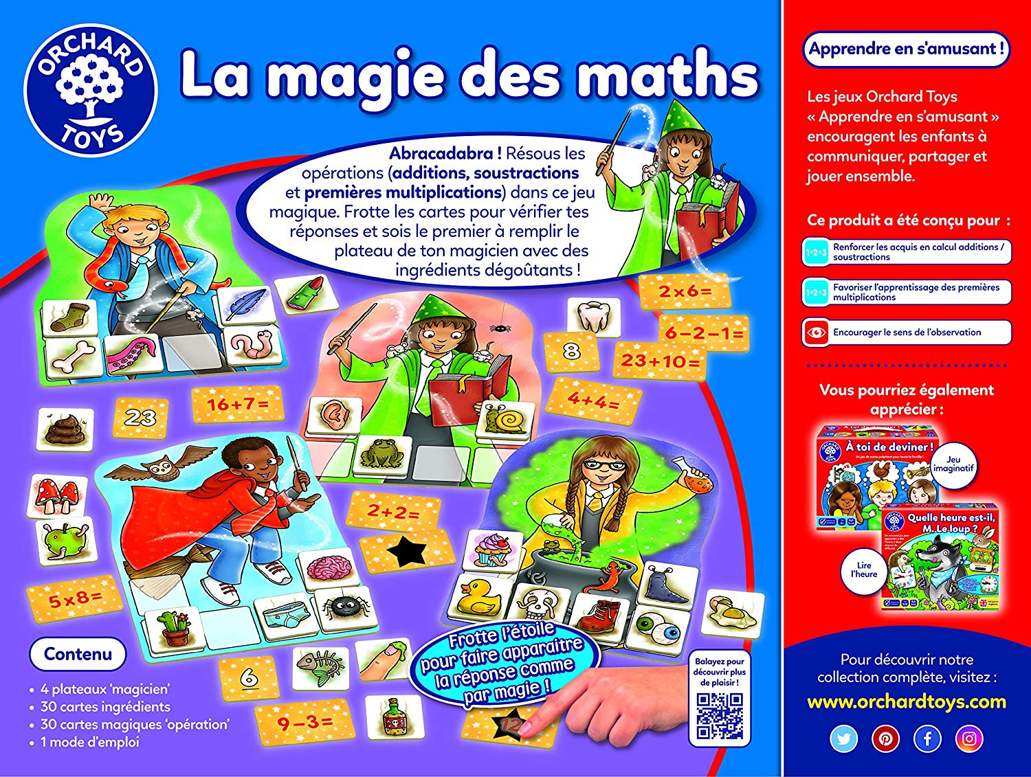 Orchard Toys - The Magic Of Math Education Read Game, 186 ...