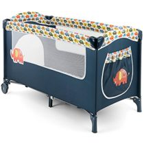 MILLY MALLY 23340 Crib/Playpen Mirage Elephant Model, Multi-Colour