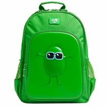 Tinc Embossed Character Kids Backpack | Large Main Compartment | Great for School/Home or as a Gift | for Boys and Girls | Two External Elastic Water Bottle Pockets – Green
