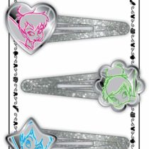 Joy Toy 25033 Fairies Hair Clip with Glitter and Enameled Figures on Backer Card