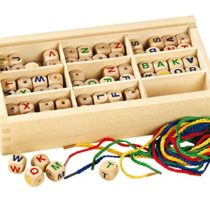 Betzold 50794 Wood Letter Bead