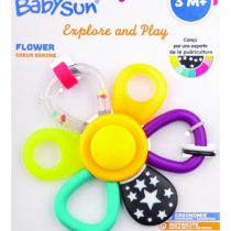 BabySun Explore and Play Rattle Flower